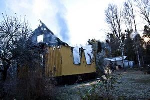 Villan i Hallstahammar var redan övertänd när brandkåren kom till platsen.