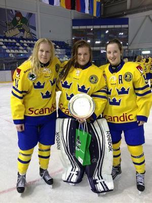 Elin, Julia och Madeleine var framgångsrika i Ryssland.