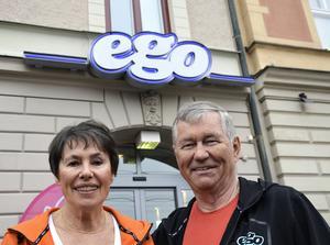 Maj och Björn öppnade sitt första gym på Södra Järnvägsgatan. Namnet Ego handlar om att ge sig själv tid, menar de.