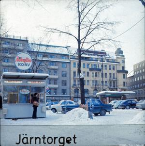 Vinter på Järntorget på 70-talet.