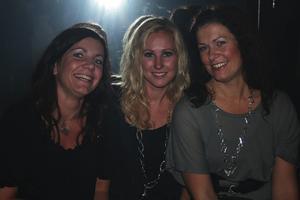 Extremes-festen på Pluto. Charlotte Cederqvist, Malin Brygg och Ulrika Aronsson.