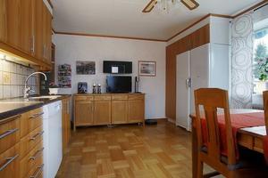 Så här såg köket ut när de flyttade in.