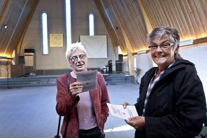 Häftig lokal. Anita Fröderberg och Elsie Östervall var nyfikna att kika in när Föreningen Gefle Forum hade öppet hus på torsdagen. En häftig lokal att sjunga i, konstaterade de, som redan bestämt sig för att börja sjunga i kören Trutarna.