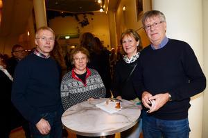Jan-Olof och Ann-Charlotte Norberg fanns på plats tillsammans med Yvonne och Mats Lögdal.