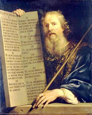 Mose med de tio budorden. Målning av Philippe de Champaigne från 1648.