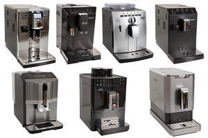 De sju testade espressomaskinerna.