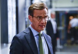 Varför drar Ulf Kristersson (M) linjer i sanden mot Socialdemokraterna, men inte mot Sverigedemokraterna? Bild: Henrik Montgomery / TT