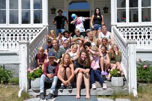 I år är det 20 barn som deltar på Sommarkollot i Lögdö.