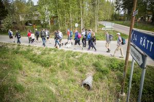 Dubbelt så många vandrare ger sig iväg mot Leksand.