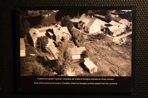 Flygbild över gården där bröderna Nordgren startade den första verkstaden.