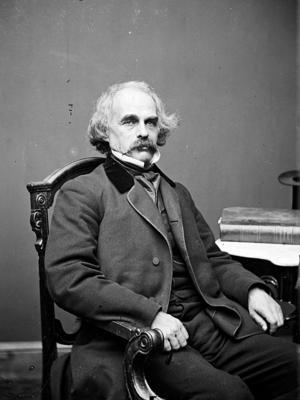 Nathaniel Hawthorne 1860. Foto: Mathew Brady