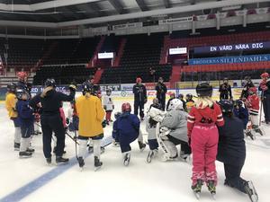 Under helgen deltog SSK under World Girls Ice Hockey Weekend. Bild: Privat.