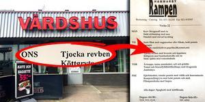 """Det är inte """"rövben"""" på Hammarbyrampens originalmeny. Foto: Mats Adolfsson. Montage: Terese Westberg Sunesson"""