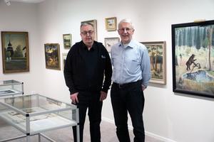 Bosse Marcelind och John Ondahl samlar båda på tavlor målade av Olof Nilsson.