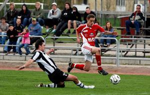 Daniel Grbic har öst in mål säsong efter säsong. En klassisk målskytt i Hallstahammars SK. Foto: Arkiv
