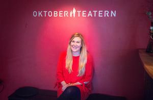 Anna Rautio är sedan mars verksamhetsledare för Oktoberteatern.