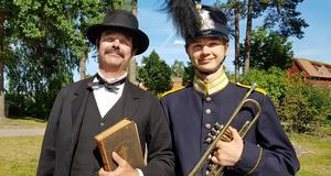 Hans Qviström med sin son.