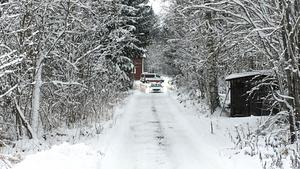 En syn genomfördes på den gård där Tova Moberg misstänks ha blivit mördad. Rätten följde med till platsen, men inga medier var tillåtna efter beslut av fastighetsägaren.