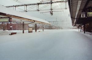 All tågtrafik genom Gävle ställdes in.