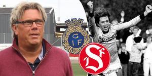 GIF-ikonen Pelle Olsson har gjort tre derbyn mot Sandvikens IF. Nu står han på andra sidan, som tränare för rödvästarna. Foto: Andreas Karlström & Arkiv