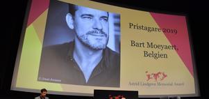 Den flamländske författaren Bart Moeyaert blir årets mottagare av Astrid Lindgren Memorial Award, Almapriset. Bild: Jessica Gow/TT