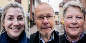 Malin Pennström, Leif Nilsson och Pia Strömbäck tycker till om tryggheten i skolan.