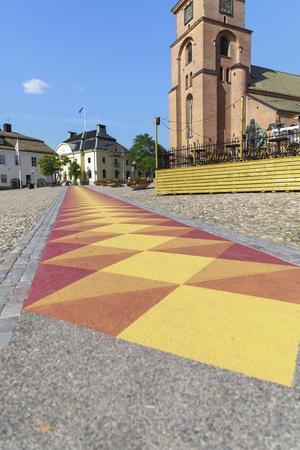 Den målade gången genom Stora Torget.