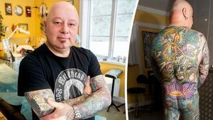 Paul Blackwell har tillbringat hundratals timmar hos tatuerare över hela världen. Nu finns det bara några få tomma ytor kvar på kroppen att fylla.
