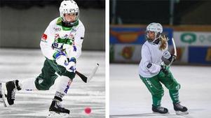Matilda Plan (tv) och Linnéa Larsson (th) är två av VM-debutanterna i Sveriges trupp.