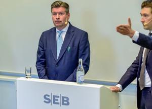 SEB:s VD Johan Torgeby har varit okontaktbar ett tag. Foto: TT.