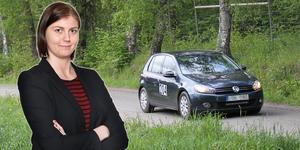Sportens Jessica Eriksson körde sin första rallytävling under lördagen.