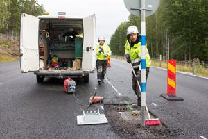 Beläggningsarbetet mellan Fagersta och Norberg beräknas vara avslutat under september månad.