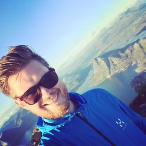 Thomas Gilén är styrelseordförande för Cryptomagic. Han är för närvarande i Lofoten för att klättra i berg. Foto: Privat