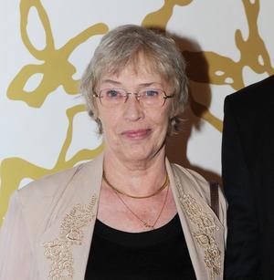 """Barbro Oborg spelar rollen som Gudrun i """"Pistvakt""""."""