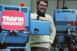 Carl-Ingemar Perstad 1978, samma år som Trafikmagasinet hade premiär. Programmet sändes från studion på Lugnet i Falun i 25 år. Foto: Privat/SVT