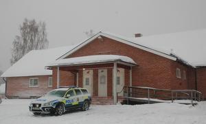 Polisen upprättade en sambandscentral i Nusnäs bygdegård.