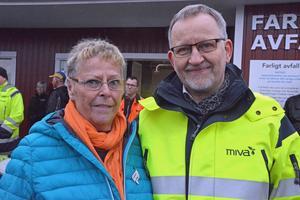Margareta Bodin, nöjd Husumbo, tillsammans med Mivas vd Gerth Mattebo.