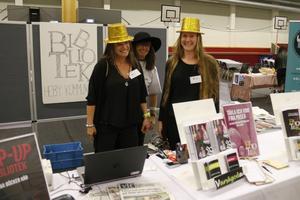 Heby biblioteks Malin Edlund, Dorothee Grelle och Gabriella Friberg Westin.