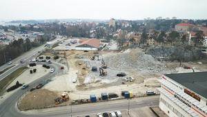 Fyren-området som det såg ut i början av byggprojektet.