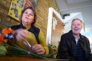 Regissören Tina Spers och manusförfattaren Leif Lindström inför premiären på