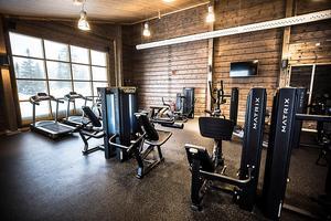 Ett gym med utsikt mot Storhognafjället