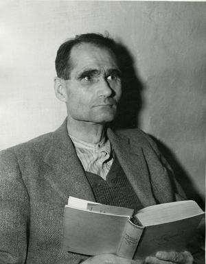 Rudolf Hess i sin cell i Nürnberg 1945. Foto: United States Army Signal Corps