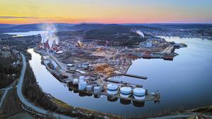 Här på fabriksområdet i Domsjö skulle det väldiga bioraffinaderiet ligga.