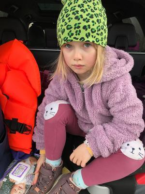 Speltestaren Tilde, 6 år. Foto: Helle Zimmerman