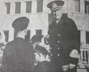 1969 inspekterade kungen Gustaf VI Adolf, stående i en jeep, den nybyggda basen. Foto: Hans G Hansson/NP