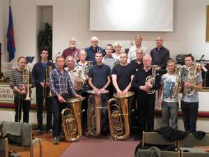 Brassfest i Konserthuset. Gästrikebandet har bjudit in sina bröder från Stockholm.