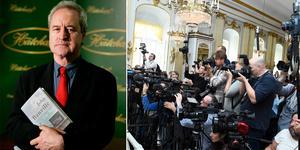 John Banville, författare, lurades att han tilldelats Nobelpriset i litteratur. Foto: AP Photo/Matt Dunham / Alexander Larsson Vierth / TT (bilden är ett montage)
