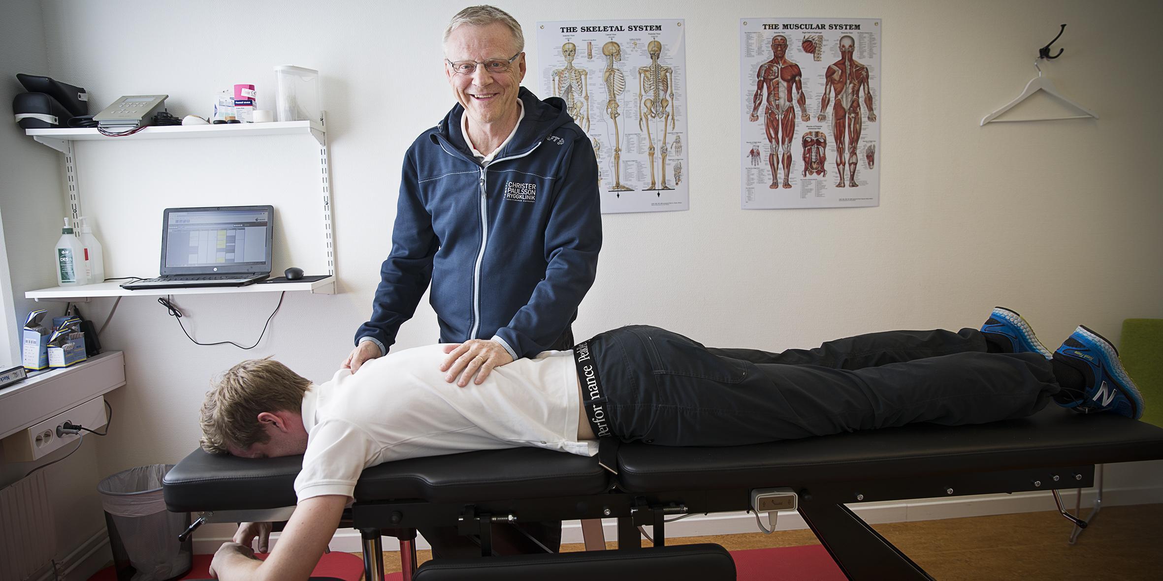 Christer Paulsson har lagat trasiga ryggar i 32 år :