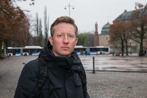 Mattias Lundekvam, förbundsordförande vid Hörselskadades riksförbund. /Foto: Gabriel Rådström NA