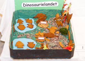 Bidrag 1. Dinosaurielandet av förskolan Västergården avdelning Borgen 2.